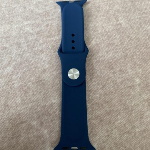 Apple Watch Bands - Bright and Soft Silicone Apple Watch Band 38mm 40mm 42mm 44mm Midnight Blue 1