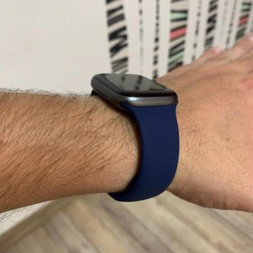 Apple Watch Bands - Bright and Soft Silicone Apple Watch Band 38mm 40mm 42mm 44mm Midnight Blue 4