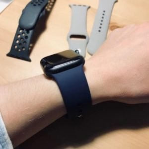 Apple Watch Bands - Bright and Soft Silicone Apple Watch Band 38mm 40mm 42mm 44mm Midnight Blue 5