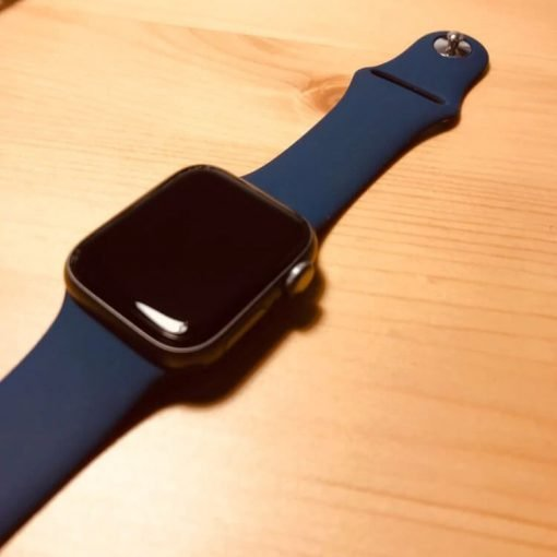 Apple Watch Bands - Bright and Soft Silicone Apple Watch Band 38mm 40mm 42mm 44mm Midnight Blue 6