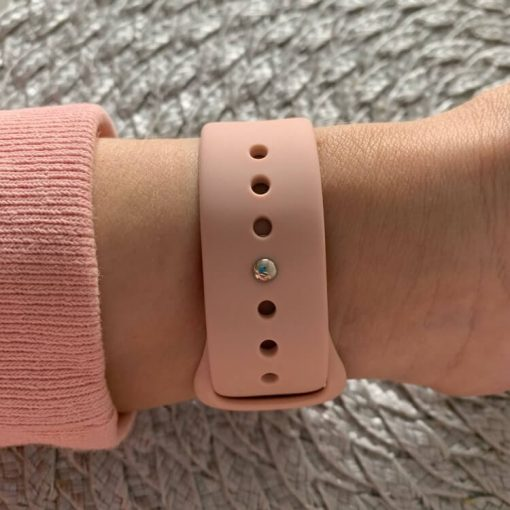 Apple Watch Bands - Bright and Soft Silicone Apple Watch Band 38mm 40mm 42mm 44mm Pink 5