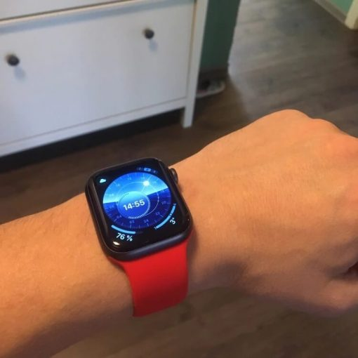 Apple Watch Bands - Bright and Soft Silicone Apple Watch Band 38mm 40mm 42mm 44mm Red 1
