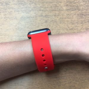Apple Watch Bands - Bright and Soft Silicone Apple Watch Band 38mm 40mm 42mm 44mm Red 2