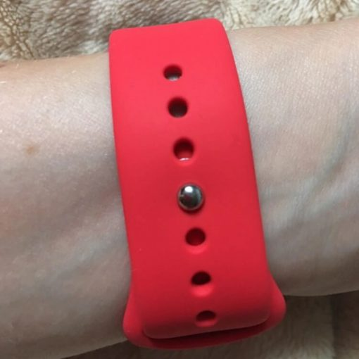 Apple Watch Bands - Bright and Soft Silicone Apple Watch Band 38mm 40mm 42mm 44mm Red 4