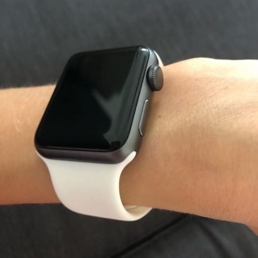 Apple Watch Bands - Bright and Soft Silicone Apple Watch Band 38mm 40mm 42mm 44mm White 7
