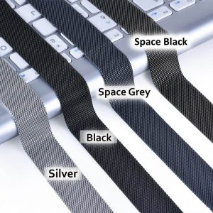 Apple Watch Bands - Silver, Black, Space Grey and Space Black Milanese Loops 38mm 40mm 42mm 44mm