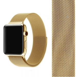 Apple Watch Bands Milanese Loop Gold with Band 38mm 40mm 42mm 44mm