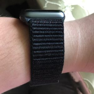 Apple Watch Bands - Black Premium Nylon Sport Loop 42mm 44mm 1