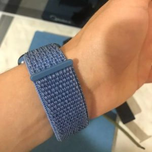 Apple Watch Bands - Cape Cod Blue Premium Nylon Sport Loop 38mm 40mm 42mm 44mm on wrist 3