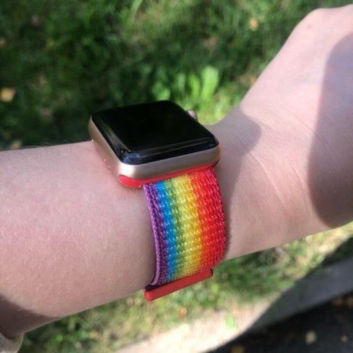 Apple Watch Bands - Pride Premium Nylon Sport Loop 38mm 40mm 42mm 44mm 4