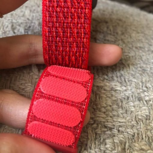 Apple Watch Bands - Red Premium Nylon Sport Loop 38mm 40mm 42mm 44mm 5