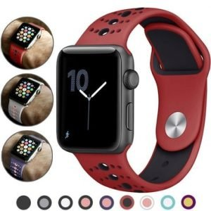 Apple Watch Bands - Modern Sports Silicone Band Range Series 1 2 3 4 5 38mm 40mm 42mm 44mm