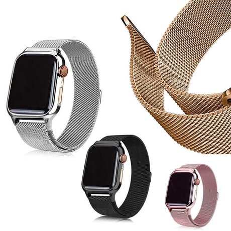 Apple Watch Bands - Milanese Loop Strap Range Series 1 2 3 4 5 38mm 40mm 42mm 44mm