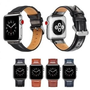 Apple Watch Bands - Luxury Leather Band Range Series 1 2 3 4 5 38mm 40mm 42mm 44mm