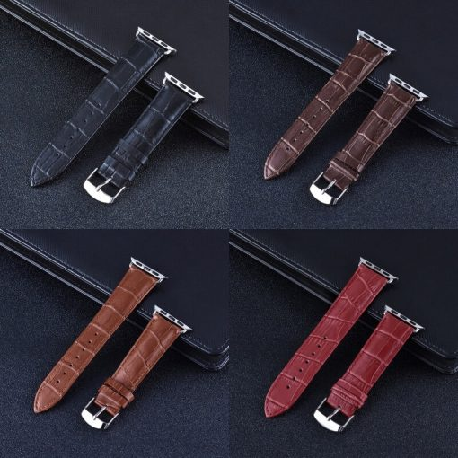 Apple Watch Bands - Casual Leather Band Range Series 1 2 3 4 5 38mm 40mm 42mm 44mm