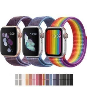 Apple Watch Bands - Sports Loop Nylon Band Range Series 1 2 3 4 5 38mm 40mm 42mm 44mm