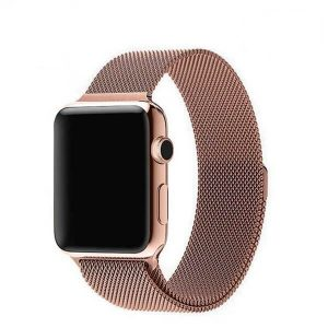 Apple Watch Bands - Milanese Loop Apple Watch Champagne Gold Series 1 2 3 4 5 38mm 40mm 42mm 44mm