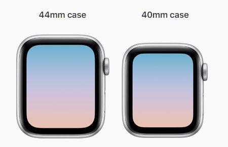 Apple Watch Series 5 Screen Sizes 40mm 44mm