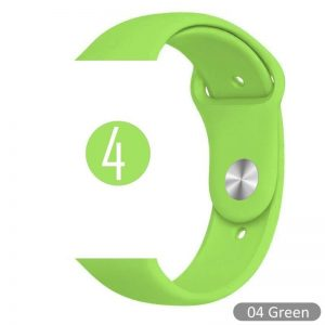 Apple Watch Bands - Bright and Soft Silicone Sports Apple Watch Band Green Series 38mm 40mm 42mm 44mm