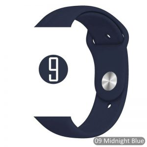 Apple Watch Bands - Bright and Soft Silicone Sports Apple Watch Band Midnight Blue Series 38mm 40mm 42mm 44mm