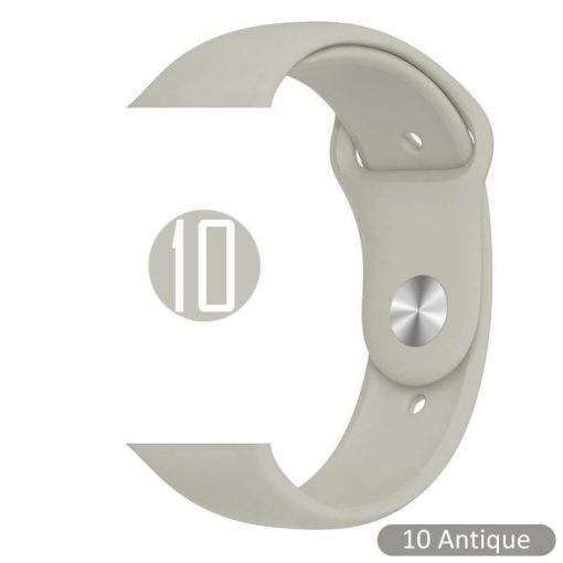 Apple Watch Bands - Bright and Soft Silicone Sports Apple Watch Band Antique Series 38mm 40mm 42mm 44mm