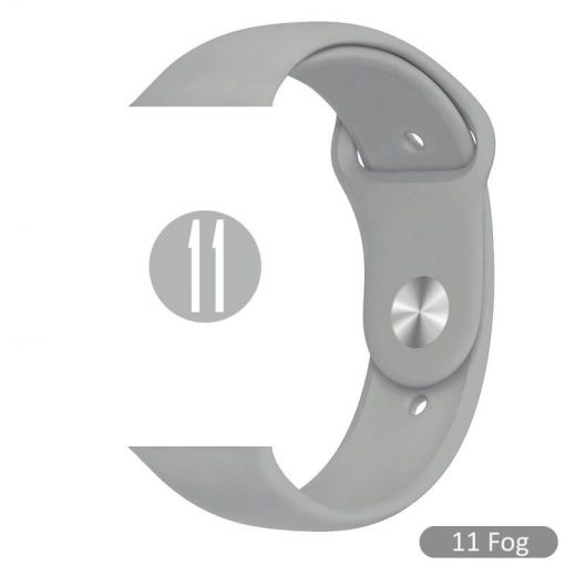 Apple Watch Bands - Bright and Soft Silicone Sports Apple Watch Band Fog Series 38mm 40mm 42mm 44mm