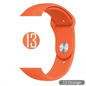 Apple Watch Bands - Bright and Soft Silicone Sports Apple Watch Band Orange Series 38mm 40mm 42mm 44mm