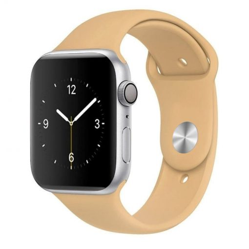 Apple Watch Bands - Bright and Soft Silicone Sports Apple Watch Band Walnut Series 38mm 40mm 42mm 44mm