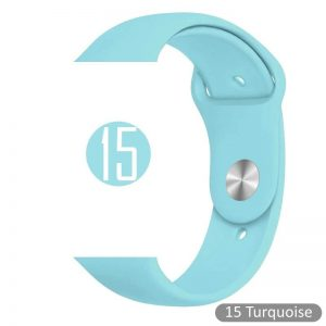 Apple Watch Bands - Bright and Soft Silicone Sports Apple Watch Band Turquoise Series 38mm 40mm 42mm 44mm