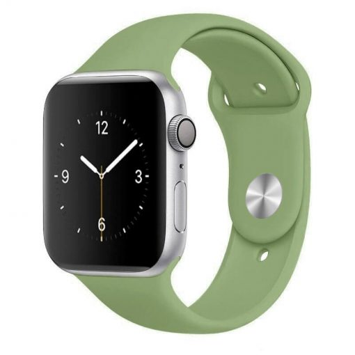Apple Watch Bands - Bright and Soft Silicone Sports Apple Watch Band Mint Series 38mm 40mm 42mm 44mm
