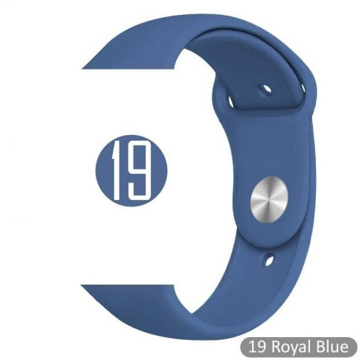 Apple Watch Bands - Bright and Soft Silicone Sports Apple Watch Band Royal Blue Series 38mm 40mm 42mm 44mm