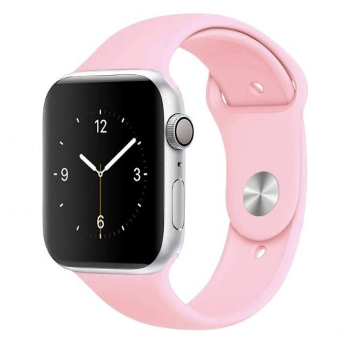 Apple Watch Bands - Bright and Soft Silicone Sports Apple Watch Band Light Pink Series 38mm 40mm 42mm 44mm