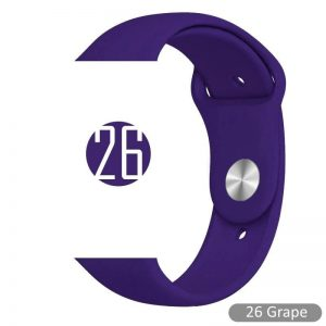 Apple Watch Bands - Bright and Soft Silicone Sports Apple Watch Band Grape Series 38mm 40mm 42mm 44mm