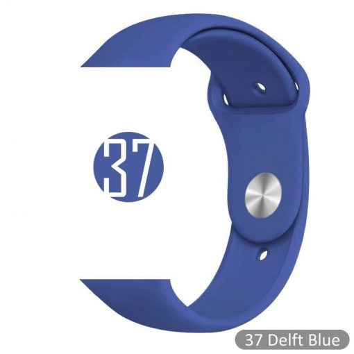 Apple Watch Bands - Bright and Soft Silicone Sports Apple Watch Band Delft Blue Series 38mm 40mm 42mm 44mm