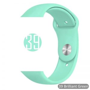 Apple Watch Bands - Bright and Soft Silicone Sports Apple Watch Band Brilliant Green Series 38mm 40mm 42mm 44mm