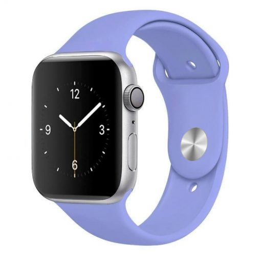 Apple Watch Bands - Bright and Soft Silicone Sports Apple Watch Band Lavender Series 38mm 40mm 42mm 44mm