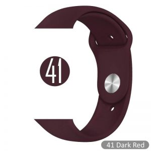 Apple Watch Bands - Bright and Soft Silicone Sports Apple Watch Band Dark Red Series 38mm 40mm 42mm 44mm