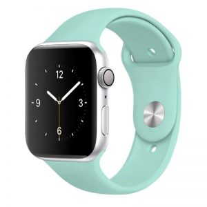 Apple Watch Bands - Bright and Soft Silicone Sports Apple Watch Band Marine Green Series 38mm 40mm 42mm 44mm