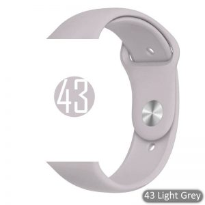 Apple Watch Bands - Bright and Soft Silicone Sports Apple Watch Band Light Grey Series 38mm 40mm 42mm 44mm
