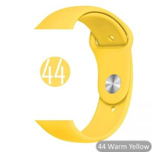 Apple Watch Bands - Bright and Soft Silicone Sports Apple Watch Band Yellow Series 38mm 40mm 42mm 44mm