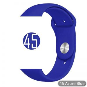 Apple Watch Bands - Bright and Soft Silicone Sports Apple Watch Band Azure Blue Series 38mm 40mm 42mm 44mm
