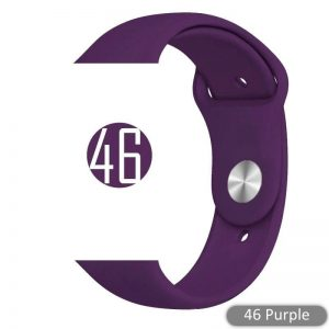 Apple Watch Bands - Bright and Soft Silicone Sports Apple Watch Band Purple Series 38mm 40mm 42mm 44mm