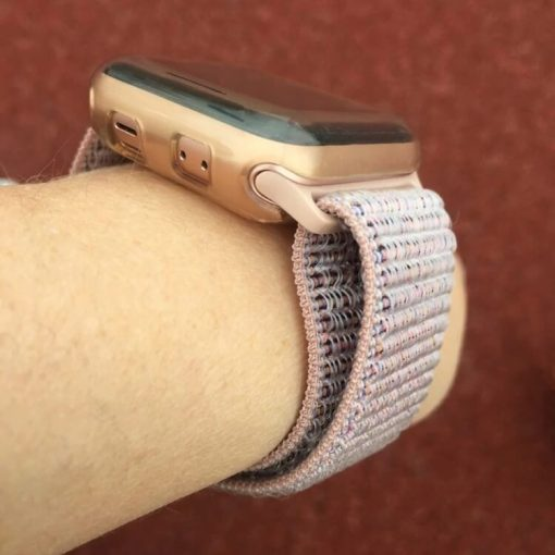 Pink Sand Sport Loop Apple Watch Band