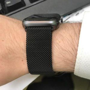 Apple Watch Bands Milanese Loop Black Series 1 2 3 4 5 38mm 40mm 42mm 44mm