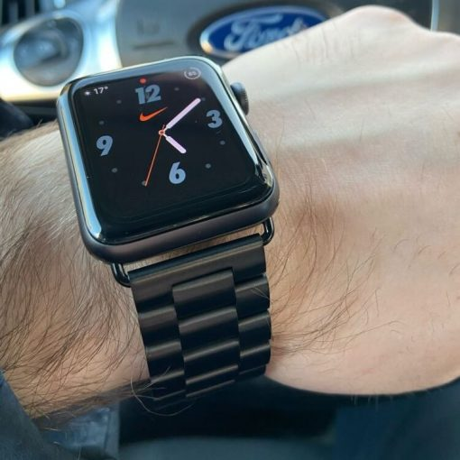Apple Watch Bands - Stainless Steel Band Black Series 1 2 3 4 5 38mm 40mm 42mm 44mm