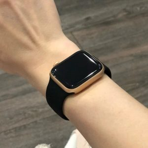 Bright Sports Apple Watch Band Black 40mm 44mm Series 6 SE