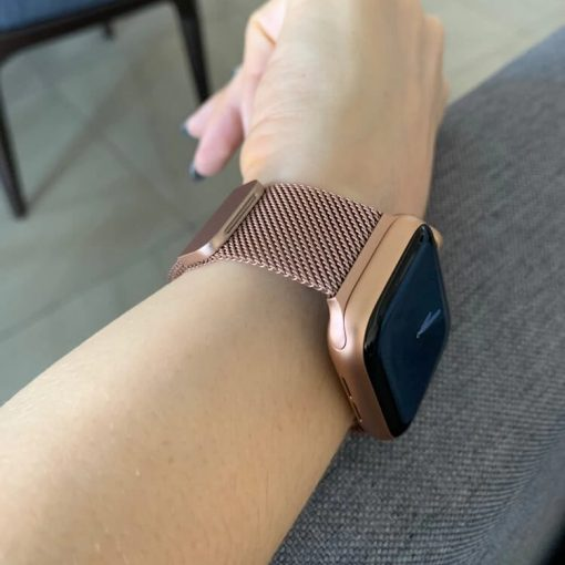 Apple Watch Bands Milanese Loop Champagne Gold Series 1 2 3 4 5 38mm 40mm 42mm 44mm