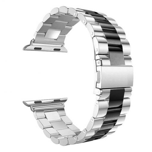 Apple Watch Bands - Stainless Steel Band Mix Black Series 1 2 3 4 5 38mm 40mm 42mm 44mm