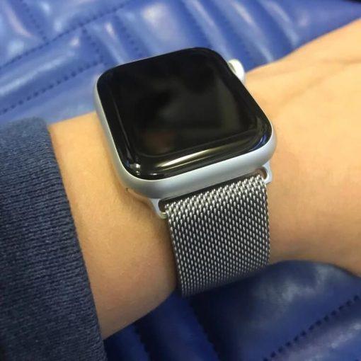 Apple Watch Bands Milanese Loop Silver Series 1 2 3 4 5 38mm 40mm 42mm 44mm