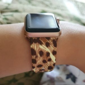 Apple Watch Bands Printed Soft Silicone Leopard Series 1 2 3 4 5 38mm 40mm 42mm 44mm